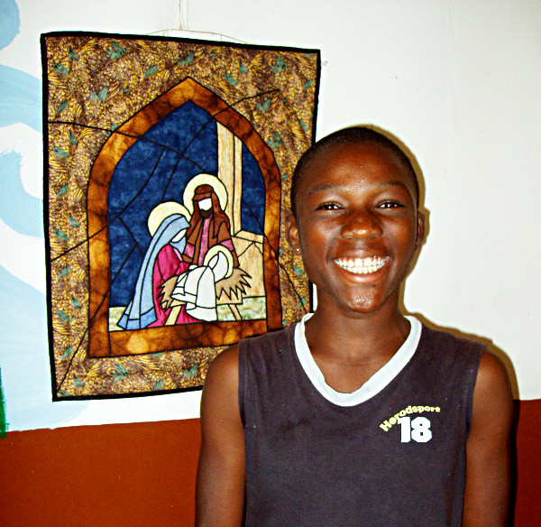 Donated Stained Glass Sample for Ghana Church